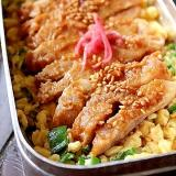 豚味噌と炒り卵*おべんとう