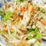 野菜炒めの塩麹と鰹節和え