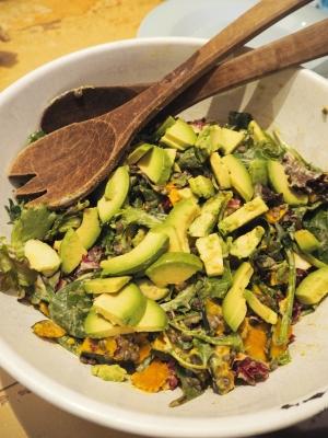 かぼちゃとレンズ豆のサラダ&タヒーニドレッシング