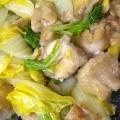 鶏肉と白菜の甘酢炒め