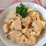 高野豆腐とツナの卵とじ