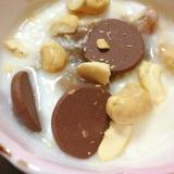 カシューナッツ&チョコ&マロンのヨーグルト