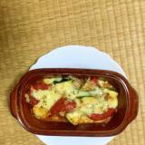ズッキーニとトマトとひき肉の夏グラタン!