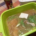 舞茸とうふレタスの味噌汁