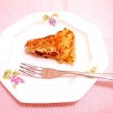 卵1/2個♪干し柿入り御飯パンケーキ