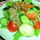 細切れ牛肉と夏野菜のナムル