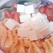 鶏と野菜の水炊き鍋、あぶ玉入り♪