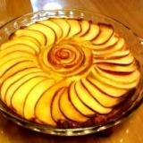 りんごとアーモンドのケーキ Apple tart