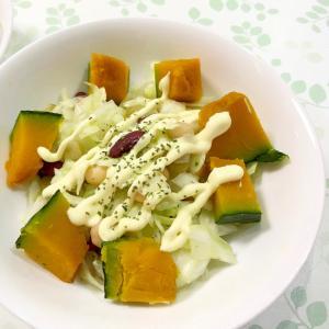 かぼちゃとサラダ豆のサラダ