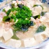 豆腐のカニ缶煮