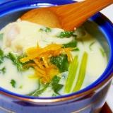 豚バラの茶碗蒸し♪ヒガシマルうどんスープ