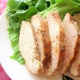 レンジで♪鷄むね肉のサラダチキン風(スパイシー味)