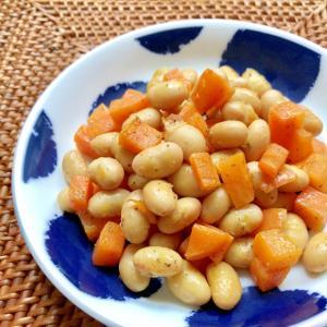 簡単!大豆とにんじんのハーブ炒め