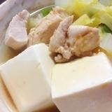 我が家の「湯豆腐♪」野菜肉もたっぷりヘルシー♪
