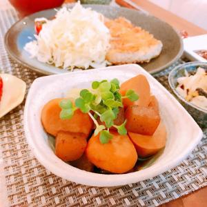 味しみしみ♪里芋と蒟蒻の煮物