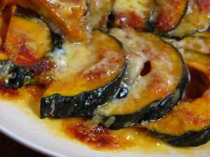 レンジで簡単☆カボチャのチーズ焼き