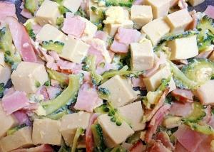 高野豆腐とベーコン☆ゴーヤチャンプル
