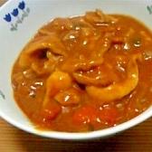 鶏皮とトマトとしめじのカレー