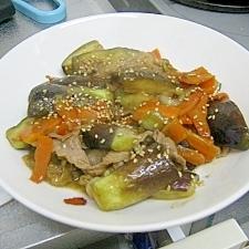 豚とナスの味噌蒸し炒め