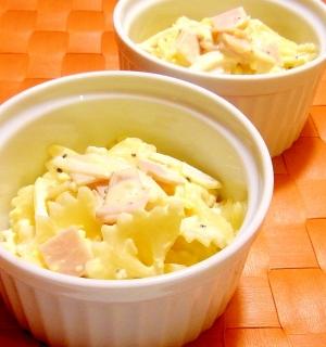 ハムとゆで卵のマカロニサラダ