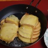 リンゴの国産ラクレット焼き