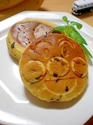 バナナとかぼちゃのチョコチップパンケーキ☆