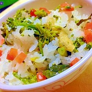 塩麹でシンプル菜の花ご飯