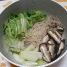 ひき肉と白菜のすき焼き