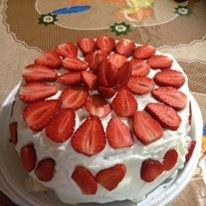 スポンジケーキミックスで簡単!苺のショートケーキ★