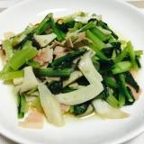小松菜のペペロンチーノ風炒め