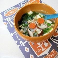 *たっぷり野菜ときのこの中華スープ*