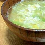 疲れた体に・・優しい味♡レタススープ