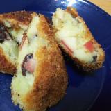 【おやつ】リンゴとレーズンのさつま芋コロッケ