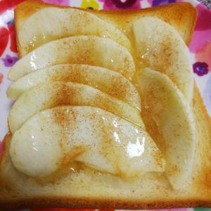 しっとりジューシー ♪りんごトースト