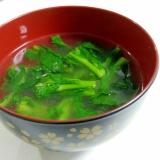 簡単もう一品☆菜の花のコンソメスープ