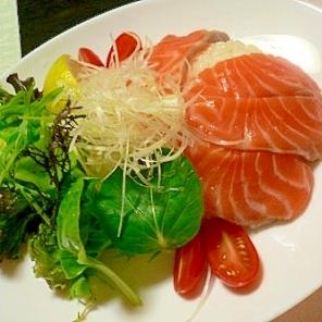 紅鮭のサラダ寿司 お昼のおもてなしに❦♪