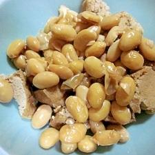 水煮大豆と厚揚げのオイスターソース煮