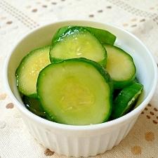胡瓜のカレー風味漬け