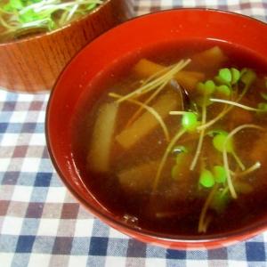 大根とシジミの味噌汁