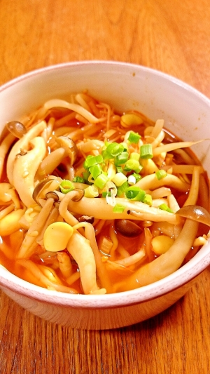 時短 豆もやしのキムチスープ