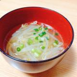 もやしと小ねぎの中華スープ