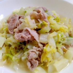 野菜消費☆豚肉と白菜のコンソメ蒸し