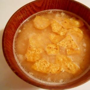 ウェイパーで☆おからとオオバコ 生姜味噌スープ