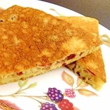 林檎の皮とレーズンのパンケーキ