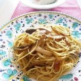 きのこスパゲティ♪にんにく醤油味♪