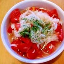 超簡単!すし酢でトマトと玉ねぎのマリネ☆