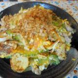 豚肉と長芋、ゴーヤの炒め物