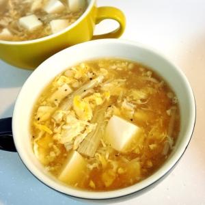 えのきと卵のとろとろ中華スープ