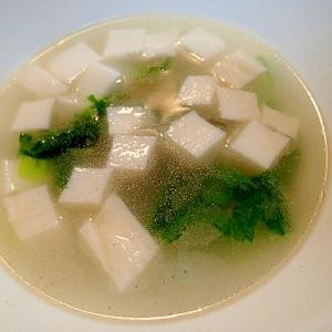 レンジで ❤蒲鉾と青梗菜の中華スープ❤
