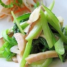 小松菜とエリンギのガーリック炒め